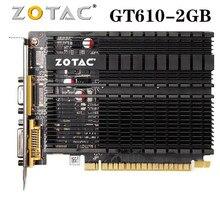 Zotac placa de vídeo geforce gt610 2gb 64bit gddr3 placas gráficas gpu mapa para nvidia original gt 610 2gd3 dvi vga pci-e usado