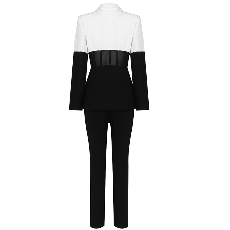 Купить высококачественный белый и черный комплект из 2 предметов с