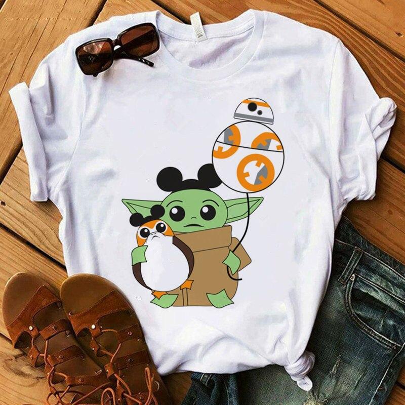Baby Yoda Mandalorian T Shirt Men/women Harajuku Star Wars T-shirt Satanist Moive Graphic Tees Men Tshirt Male 80s Top