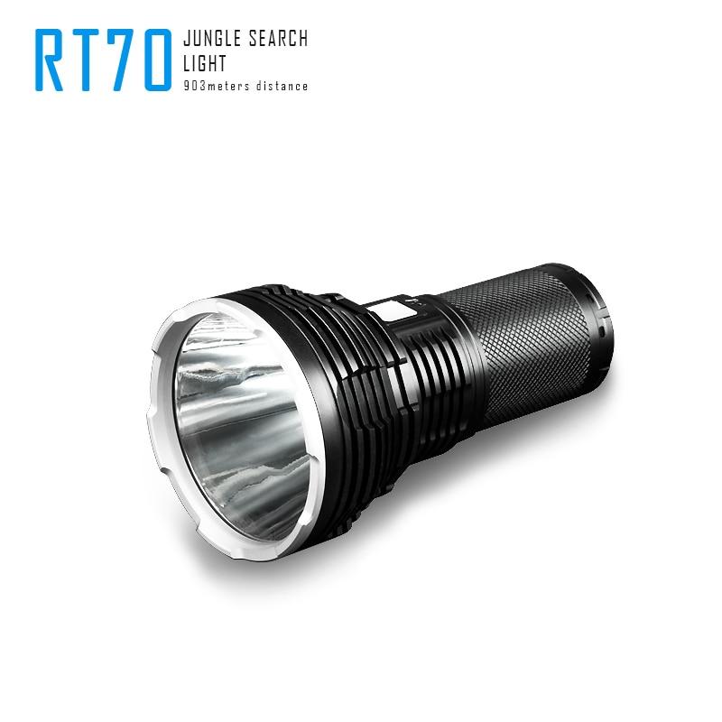 Image 2 - Imalent RT70 Cree XHP70 2. Generacji led ładowane na usb latarka latarka z 4X18650 3000mah bateria na kempingLatarki LED   -