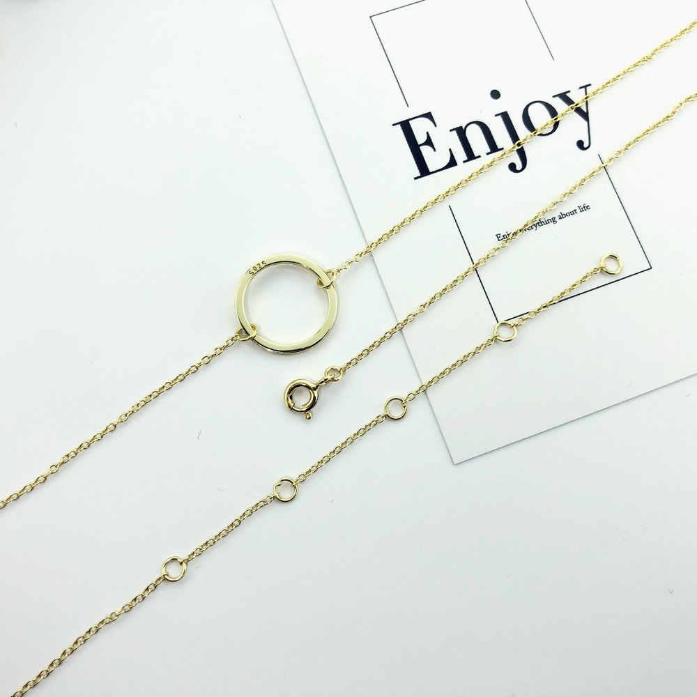 لامون مطلية بالذهب 925 قلادة فضية الاسترليني للنساء المطرقة نمط قلادة غرامة مجوهرات المختنق سلسلة مجوهرات نسائية
