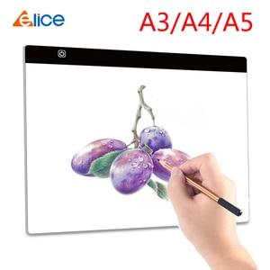 Elice A3 A4 A5 ультратонкий светодиодный цифровой графический коврик для рисования USB СВЕТОДИОДНЫЙ светильник для копировальной доски электронн...