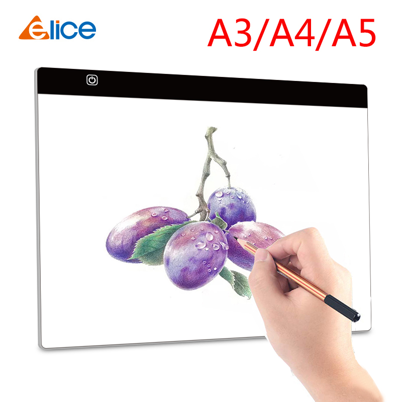 Elice A3 A4 A5 Ultra Thin LED Drawing Digital Graphics Pad USB LED Light Pad Copy Board Electronic Art Painting Writing Wacom
