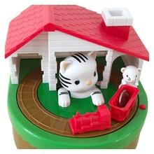 Милый Кот поймать мышь Автоматическая крадущая монета копилка электронная пластиковая коробка для денег безопасная коробка для монет Копи...