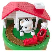 Słodki kociak złap mysz Auto kraść moneta skarbonka elektroniczny plastikowy sejf skarbonka skarbonka dla dzieci prezent urodzinowy
