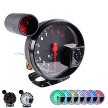 5 Inch RPM Gauge 11000 Tachometer Stepper Motor Meter with Shift Light Work For 1-10 Cylinders Car