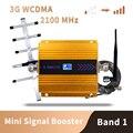 3G WCDMA 2100MHz мобильный телефон усилитель сигнала сотового телефона ретранслятор только усиление 65 Dbi ЖК-дисплей  антенна в комплект не входит
