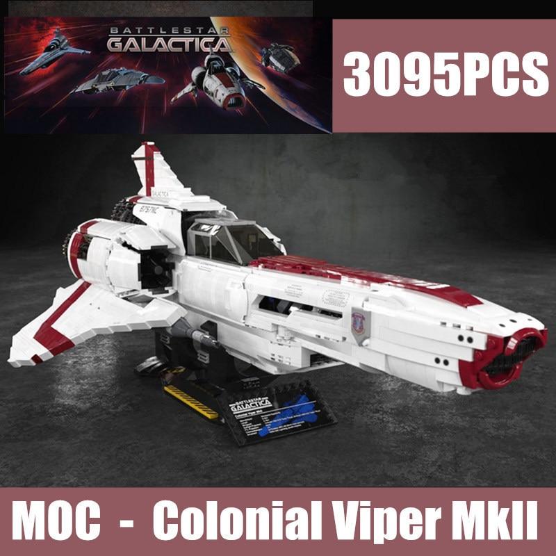 Nuevo MOC-9424 la astronave de combate galáctica Viper Colonial MKII con Legoings técnica Star Wars bloques de construcción ladrillos chico juguete cumpleaños