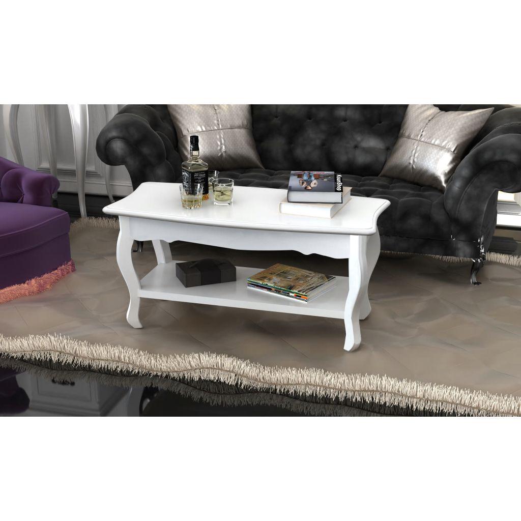 VidaXL Coffee Table 2 Tiers MDF White