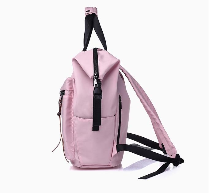 H9ab421c93ccc4e07bf58f10763b29e33e Casual Nylon Waterproof Backpack Women High Capacity Travel Book Bags for Teenage Girls Students Pink Satchel Mochila Bolsa 2019