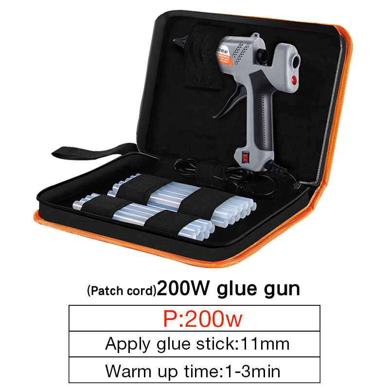 DTBD Hot Gun With Melt Tools Professional  Stick Repair Hot Gun Melt  200W Glue 100 11MM Glue High Glue Temperature Hot 240  V