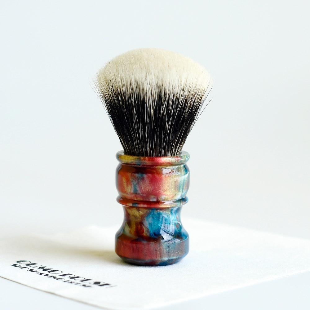 Image 3 - OUMO BRUSH  2019/8/1 CHUBBY  Art shaving brush with SHD fan Manchuria badger knot gel city 26MM-in Shaving Brush from Beauty & Health
