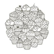 ZhuoAng Delicious Cake Clear Stamps For DIY Scrapbooking/Card Making/Album Decorative Silicon Stamp Crafts