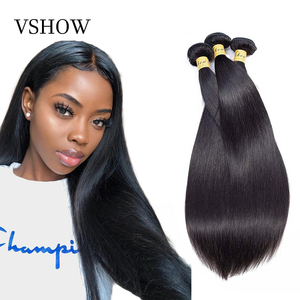 VSHOW Malaysian Straight Hair Bundles Natural Color 3 or 4 Bundles Deals Hair Extension 100% Remy Human Hair Weave(China)
