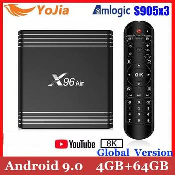 2020 Amlogic S905X3 X96Air Android 9.0 TV Box X96 Air QuadCore 2.4&5G Wifi BT Support 8K Smart Media Player Max 4GB Ram 64GB Rom