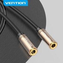 Vention jack 3,5mm Cable de Audio hembra a hembra Cable de extensión de Audio chapado en oro Aux Cable para computadora teléfono móvil PS3 PS4