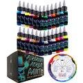 OPHIR Аэрограф акриловая краска DIY чернила для модели обуви кожа для росписи ногтей 24 цвета Аэрограф краска собственного приготовления TA005 (1-24)