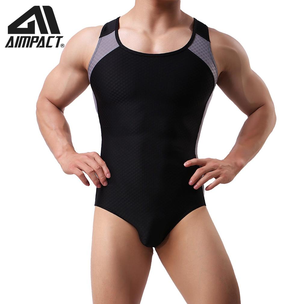 Men's Sexy Singlet Bodysuit One-Piece Bodysuits Breathable Training Body Underwear Jumpsuit Soft Underwear Mesh Vest For Men