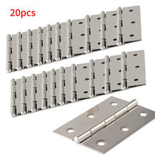 20 Pcs Drawer Durable Bookcase Door Connector Hardware 6 Mounting Holes Window Cabinet Jewelry Box Stainless Steel Hinges Repair(China)