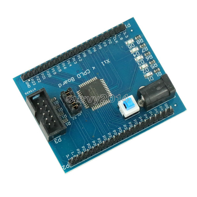 Xilinx XC9572XL CPLD Development Board Brassboard Learning Board JTAG Interface DC Power Supply with Switch