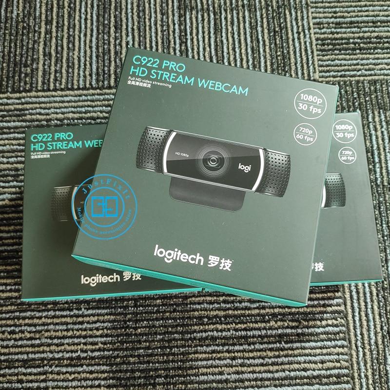 Logitech C922 Pro Autofocus Webcam Con Microfono Streaming Video Web Cam Full HD 1080P Della Macchina Fotografica Con Il Treppiedi