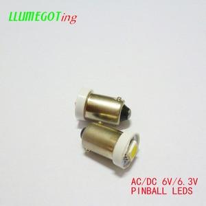 Image 2 - 100pcs BA9S T4W #44 #47 Base 1SMD 5050 6.3V AC No Polarity Various Colour Available for Bally Pinball Game Machine Lamp Bulbs
