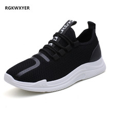 RGKWXYER New Men Sneakers Lightweight Breathable Zapatillas Man Casual Shoes Lace Up Outdoor Walking Flats Male Zapatos Hombre