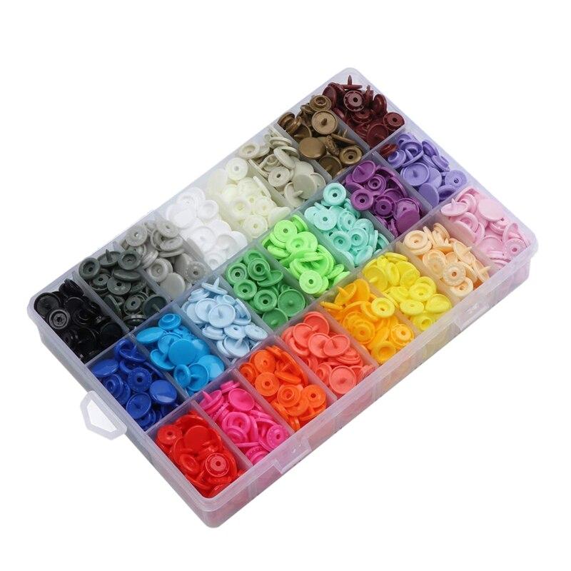 408 наборов пластиковых защелкивающихся кнопок, нет-Sew T5 защелки с органайзером чехол для хранения нагрудников подгузников ремесла