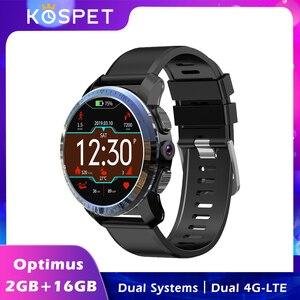 Смарт-часы KOSPET Optimus 4G 2 Гб 16 Гб 1,39 дюйма 800 мАч 8 Мп камера измерение пульса две системы Android спортивные умные часы