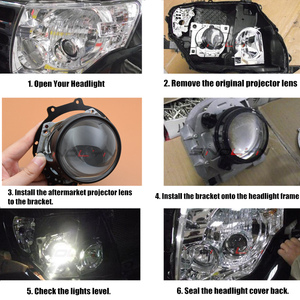 Image 5 - For Hella 3R G5 D2S HID Bi xenon Projector Lens For Mitsubishi Pajero Wagon Headlight Retrofit Accessories Frame Set Replace