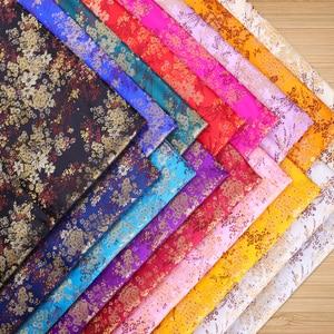Pattern brocade fabrics damask jacquard cloth high quality designer fabric for cheongsam and kimono DIY patchwork