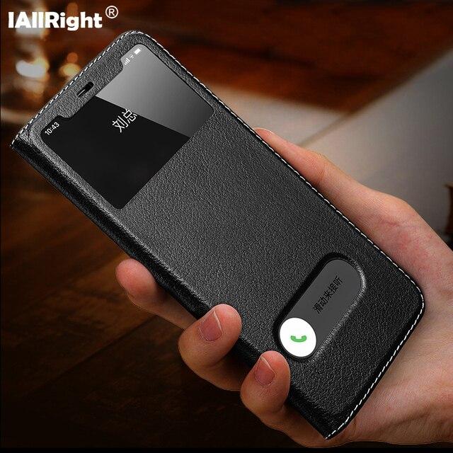 فاخر الليتشي الملمس حقيقية أغلفة جلدية حقيبة لهاتف أي فون 11 برو ماكس 7 8 Plus X XS XR نافذة عرض أكياس الهاتف حامل Coque