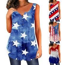 Summer Women Top Sexy Patriotic American Flag Printed Sleeveless Cropped Slip Tank Tops Clothes Ropa Mujer Haut Femme Tops Camis