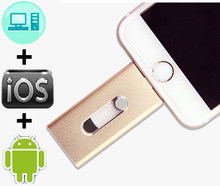 3 In 1 USB 128GB 3.0 Flash Drive OTG Pendrive Metal 64GB 32GB 16GB Micro Pen Drive for iPhone X 8 7 6 8plus iPad Stick(China)