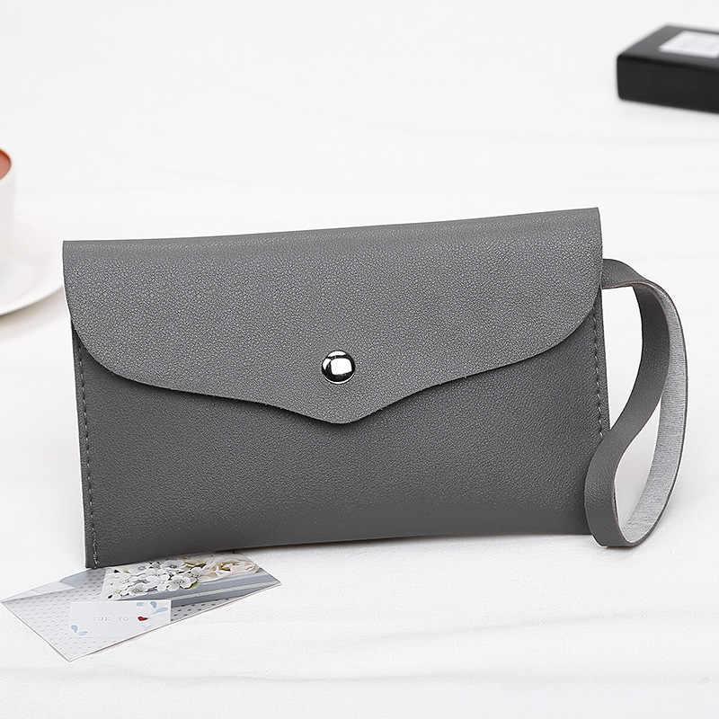 LADSOUL/Новинка; женская сумка-клатч; удобный кошелек из искусственной кожи с нулевым покрытием; простая маленькая квадратная сумка; модная сумка для девочек; однотонные Дневные ключи