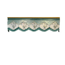 European Luxury custom valance Used for curtains at the top (Buy valance dedicated link/Not including Cloth curtain and tulle)