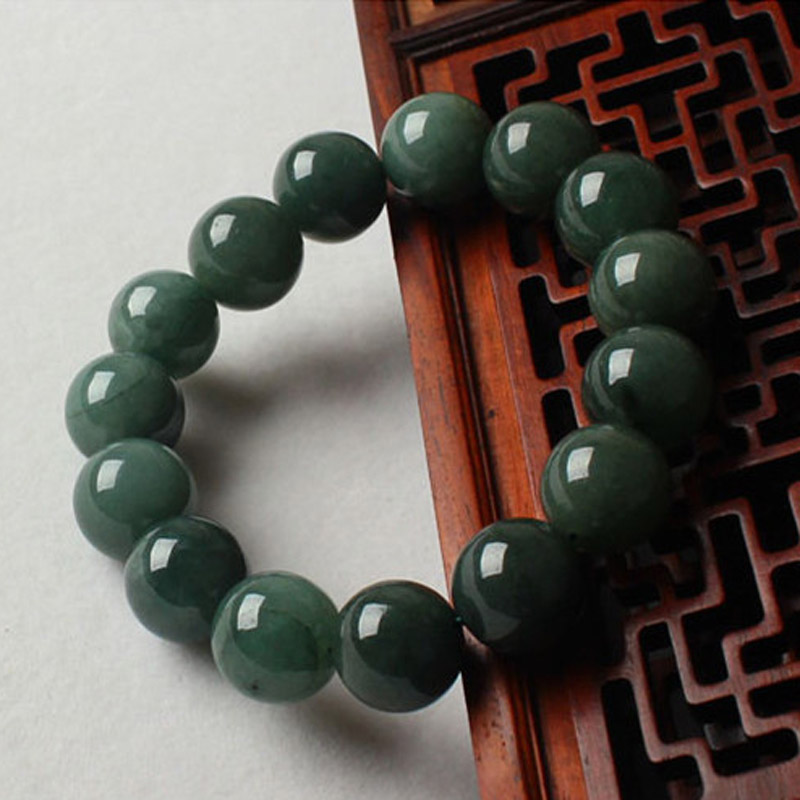 Drop Shipping Natural Burma Jade Bracelets Luck Amulet Jade Stone Bracelets For Men And Women Gift