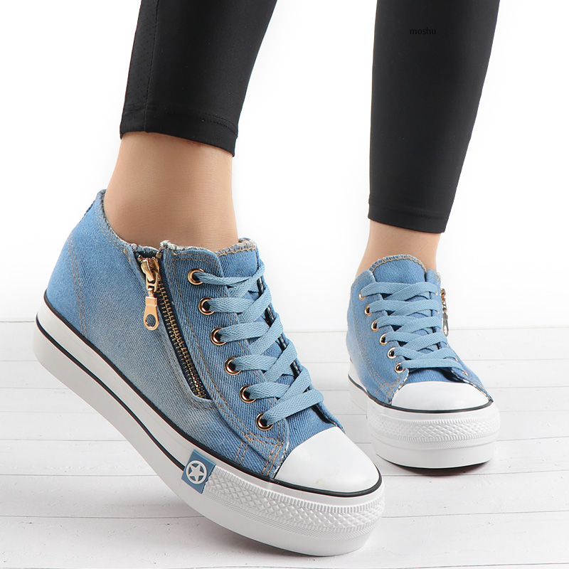 Fashion Sneakers Women Casual Canvas Shoes Tenis Feminino Comfy Ladies Vulcanize Shoes Lace Up Trainers Women