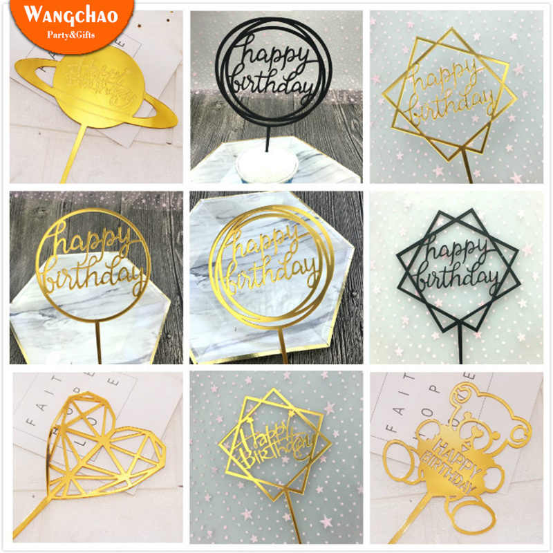 33 Designsแฮปปี้เค้กวันเกิดเค้กTopperเค้กToppers Cupcake Toppers Baby Shower PARTYอุปกรณ์ตกแต่งเค้ก