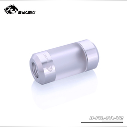 Bykski Water Filter,G1/4'' Acrylic Double Female Connector Filter, Universal Use Water Cooling Build Filter,B-FIL-PA