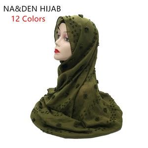 1PC NEW Viscose Solid oversize shalws Muslim hijab Lady wrinkled wraps Women fashion scarves Long head muffler Islamic scarf(China)