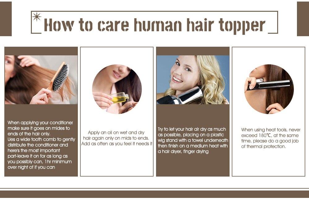 13*13cm natural em linha reta cabelo feminino
