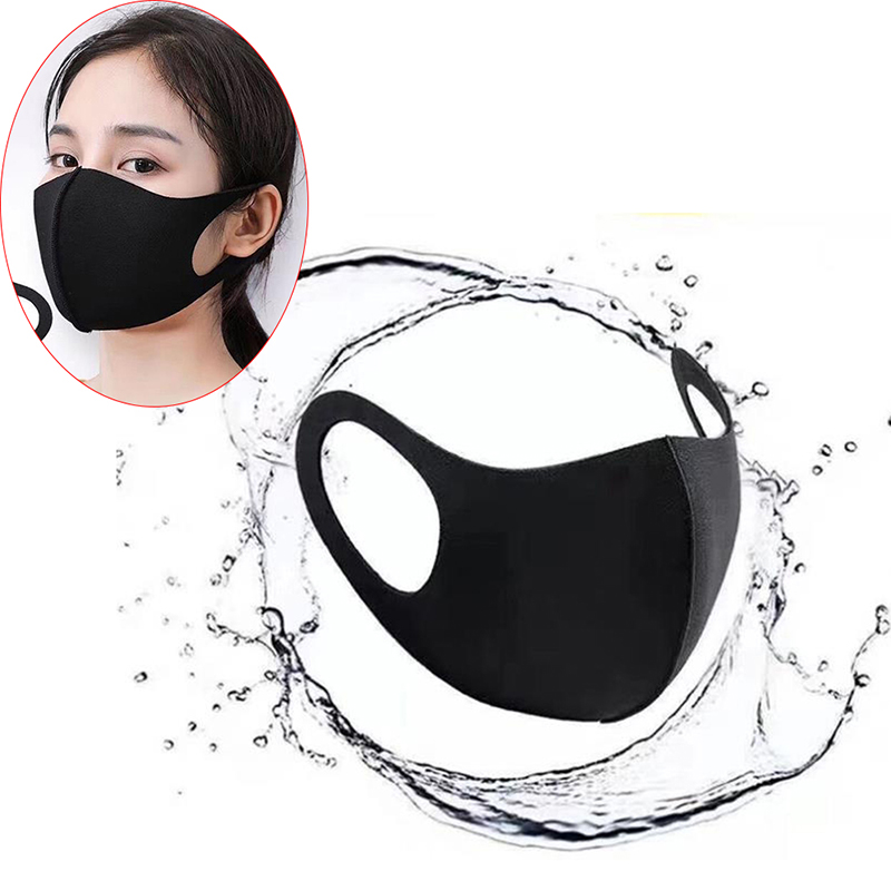 1PC Washable Earloop Face Breathing Mask Cycling Anti Dust Environmental Mouth Mask Respirator Fashion Black Mask