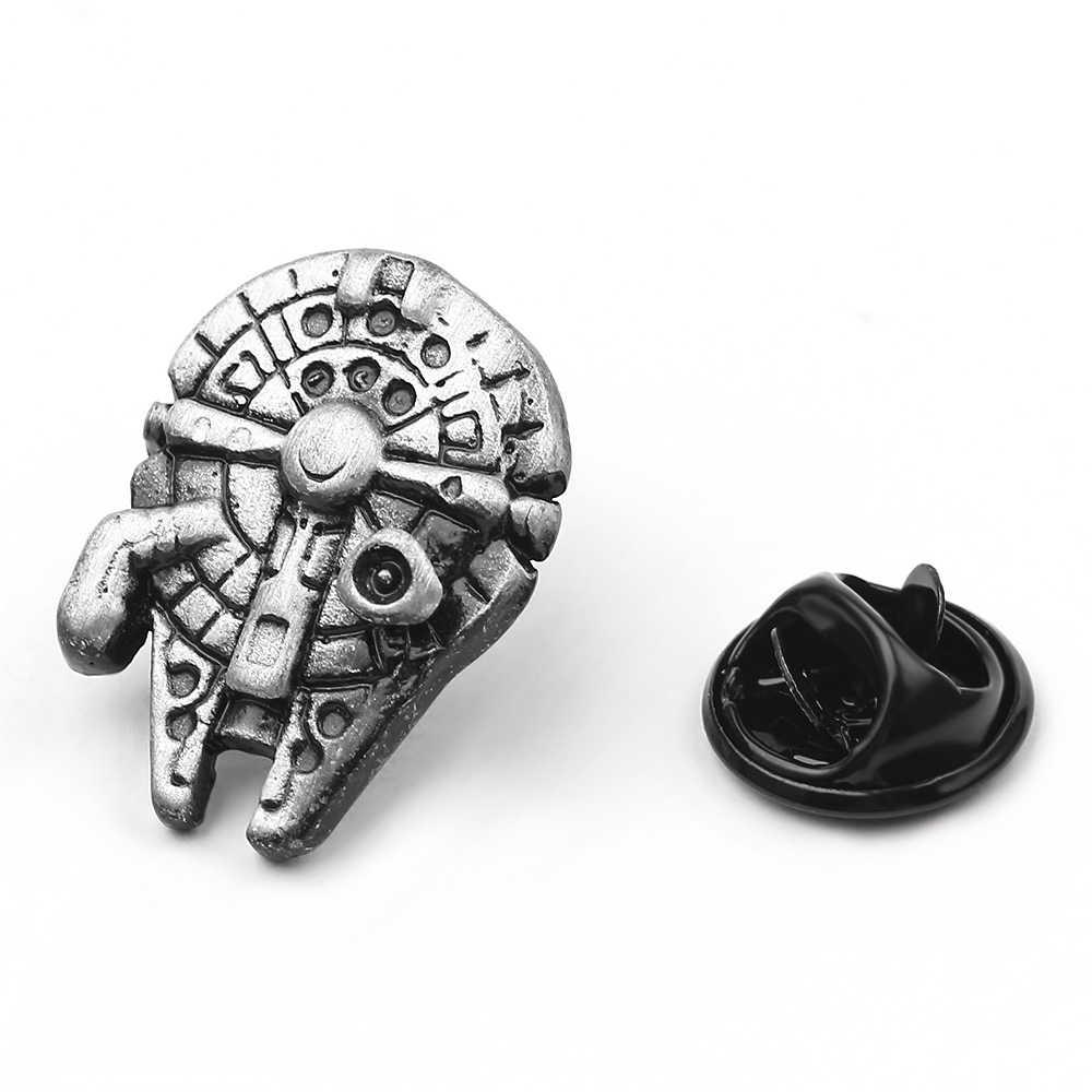 Star Wars Pin Stormtrooper Bros Pin Star Wars Darth Vader Aliansi Pemberontak Falcon Bros Lencana Kerah Pin Pria