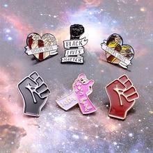 Броши с надписью «Best friend Feminism Right», металлические броши в виде черной жизни, материи, сестры, соединяют руки, эмалированные значки, жесты, юве...