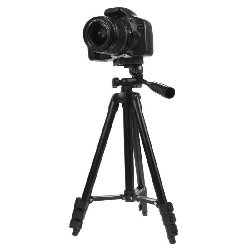 Trípode de cámara de viaje profesional desplegado (1020mm) con bolsa de transporte de cabeza de bandeja basculante para videocámara Digital DSLR gran oferta