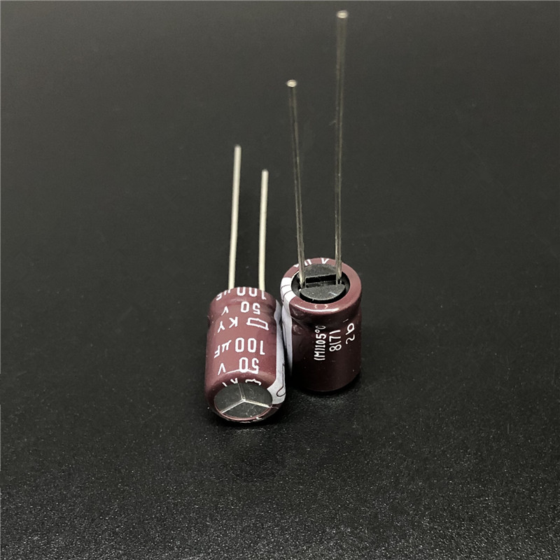 10pcs 100uF 50V NCC KY Series 8x11.5mm Low ESR 50V100uF Aluminum Electrolytic Capacitor