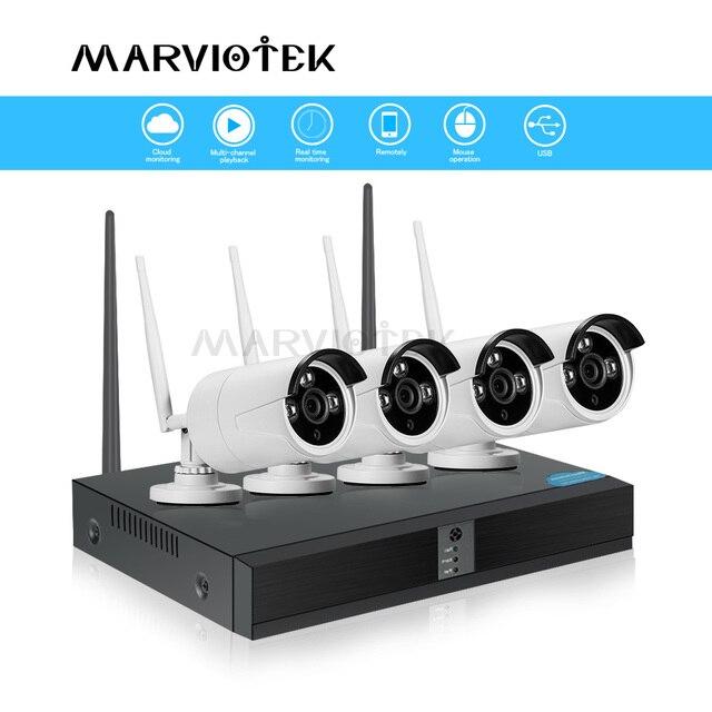 Camera IP Wifi NVR Bộ Dụng Cụ Video Giám Sát Thời Tiết Hệ thống camera Giám Sát wifi nhà Camera an ninh Hệ thống 4CH