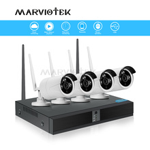 IP Camera Wifi NVR Kits Video Surveillance Weatherproof Surveillance camera system wifi home security cameras system 4CH