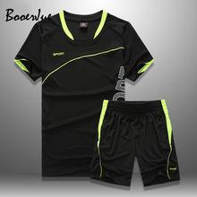 Conjunto de fatos de treino dos homens 2020 verão shorts conjuntos de camisas esportivas + shorts casuais outwear homem esporte ternos de suor dos homens jogger conjuntos